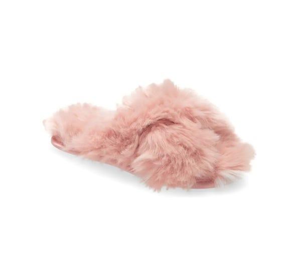 Rachel Parcell Faux Fur Slipper (Women) (Nordstrom Exclusive)