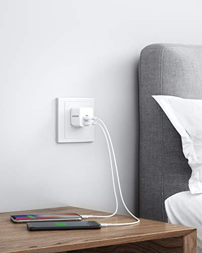 USB Charger, Anker 2-Pack Dual Port 12W Wall Charger with Foldable Plug