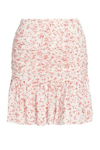 Floral Print Georgette Mini Skirt