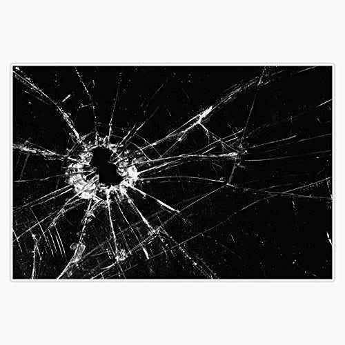 "EMC Graphics Broken Glass Print Vinyl Waterproof Sticker Decal Car Laptop Wall Window Bumper Sticker 5"""