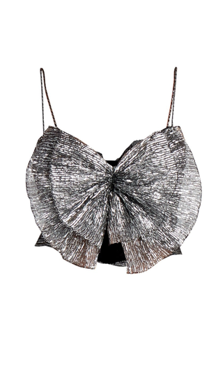 Tresha Metallic Bow Top