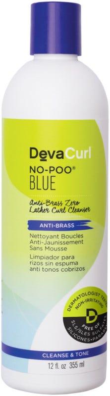 DevaCurl No-Poo Blue Anti-Brass Zero Lather Curl Cleanser