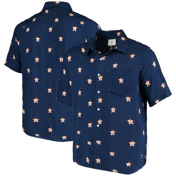 Houston Astros Mini Print Logo Button-Up Shirt