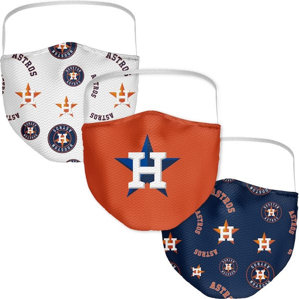 Houston Astros Adult All Over Logo Face Covering