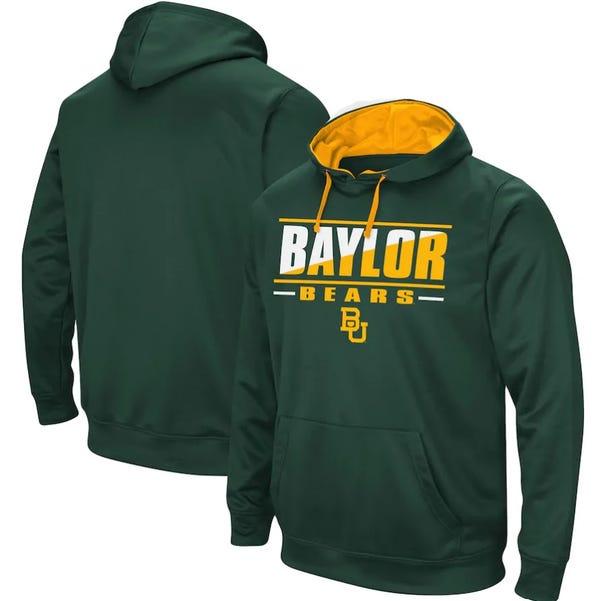 Baylor Bears Colosseum Dean Slash Stack Pullover Hoodie - Green