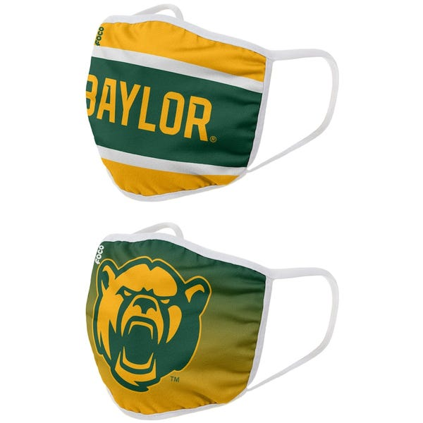 Baylor Bears FOCO Adult Printed Face Covering 2-Pack