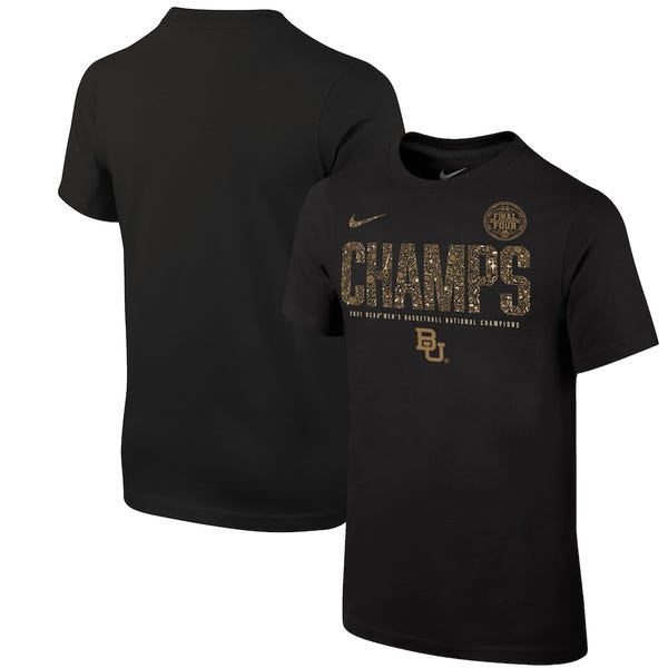 Baylor Bears Nike Youth 2021 NCAA Men's Basketball National Champions Locker Room T-Shirt - Black