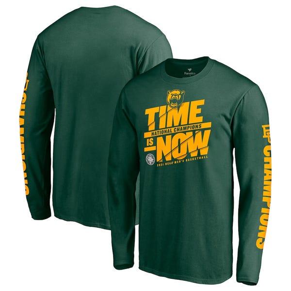 Baylor Bears Fanatics Branded 2021 NCAA Men's Basketball National Champions Pick Long Sleeve T-Shirt - Green
