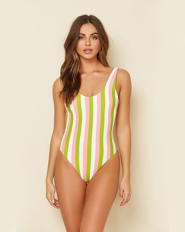 Dippin' Daisy's Serene Striped One-Piece Swimsuit