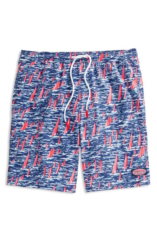 Chappy Stripe Swim Trunks