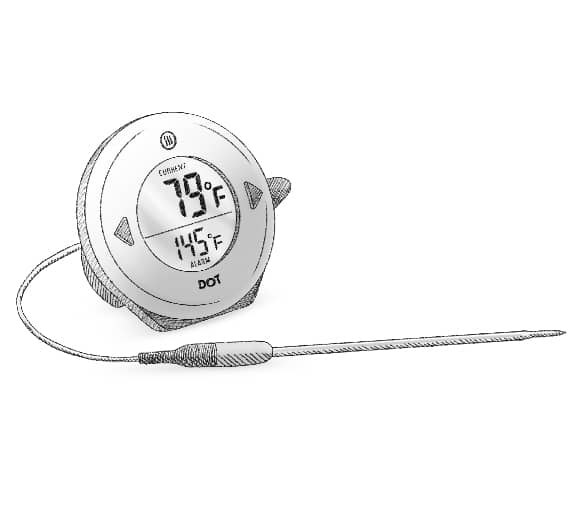 DOT Simple Alarm Thermometer