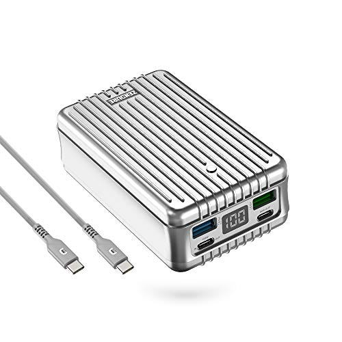 Zendure Power Bank, SuperTank 27,000mAh External Battery with Dual USB-C PD (100W&60W) and USB-A (15W&18W), QC 3.0 Portable Charger for USB-C laptops, MacBook, iPad Pro, Switch, etc.-Silver