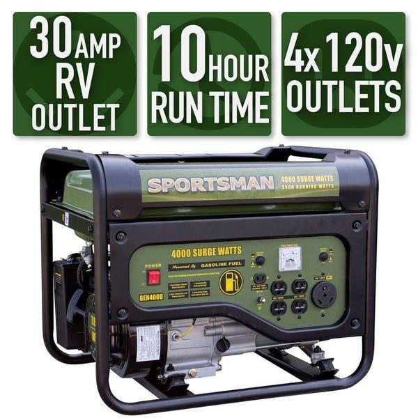 Durostar 4,000-Watt Gasoline Powered Portable Generator
