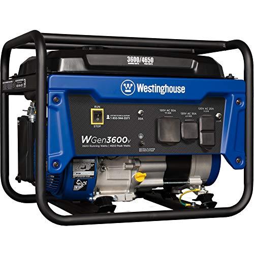 WGen3600V 4,650/3,600 Watt Gasoline Powered RV-Ready Portable Generator