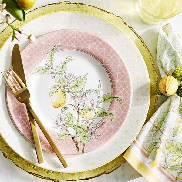 Citron Dinner Plates Set of 4 Green