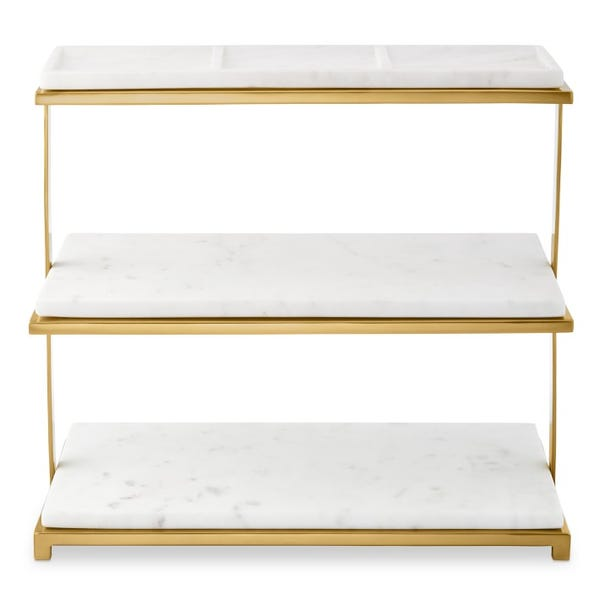 Marble & Brass 3-Tiered Stand