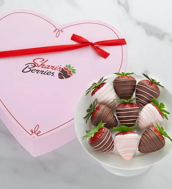 Mother's Day Drizzled Strawberries™ in Heart Box