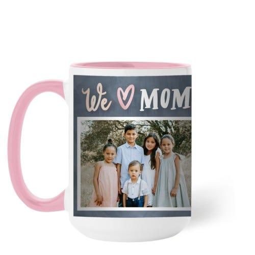 Modern We Heart Mom Mug