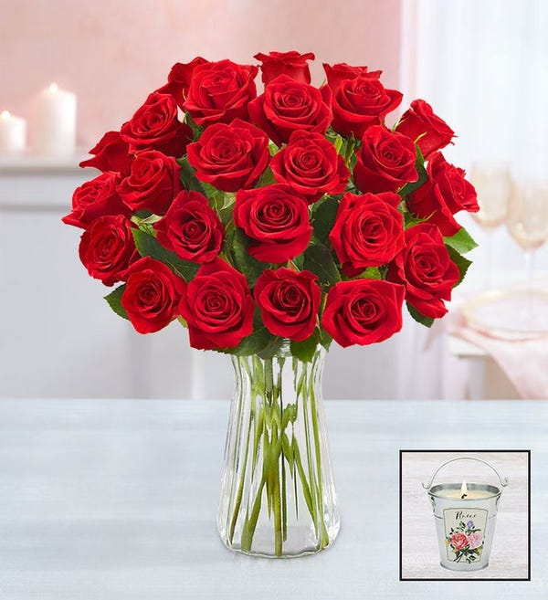 Two Dozen Red Roses for Mother's Day
