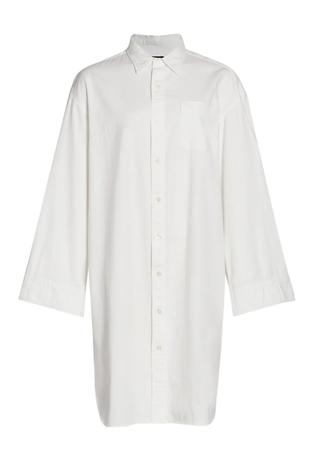 Oversized Button-Up Shirtdress