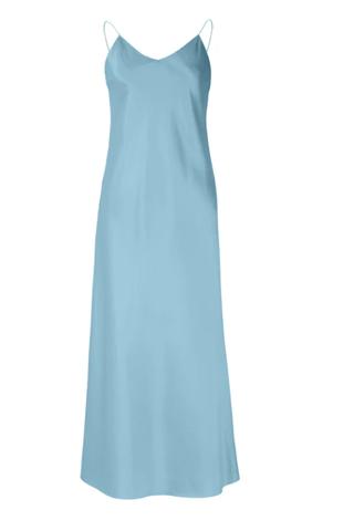 Blue Silk Dress