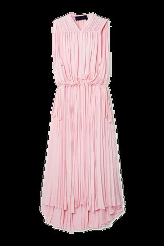 Cape-Effect Jersey Dress