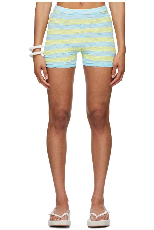 Blue & Yellow Été Shorts