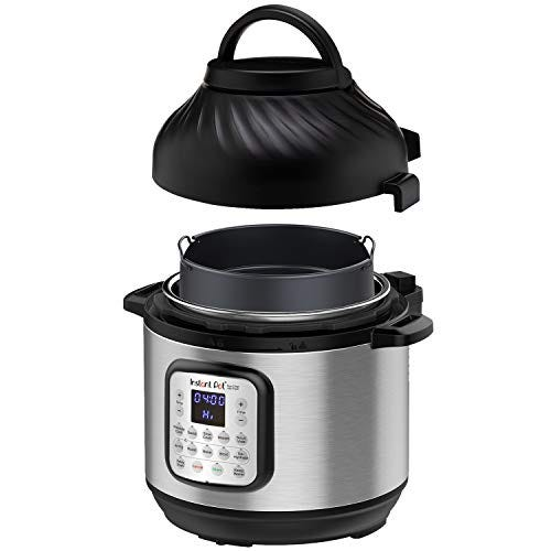 Instant Pot Duo Crisp 11 in 1, Electric Pressure Cooker with Air Fryer, Roast, Bake, Dehydrate, Slow Cook, Rice Cooker, Steamer, Saute, 8 Quart