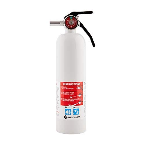 FIRST ALERT Fire Extinguisher, RecreationVehicle and Marine FireExtinguisher, White, Rechargeable, REC5