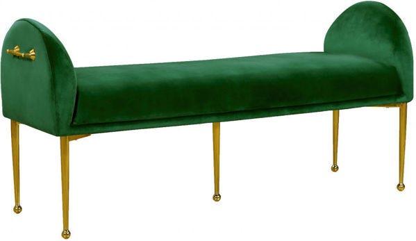 Owen Green Velvet Bench