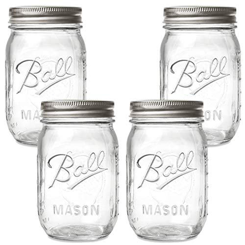 Ball Regular Mouth Mason Jars with Lids and Bands