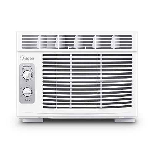 MIDEA MAW05M1BWT Window air conditioner 5000 BTU with Mechanical Controls, 7 temperature, 2 cooling and fan settings, White