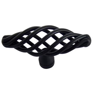 Bouton de meuble en cage peint en noir (paquet de 6), B&Q, 10,28 £