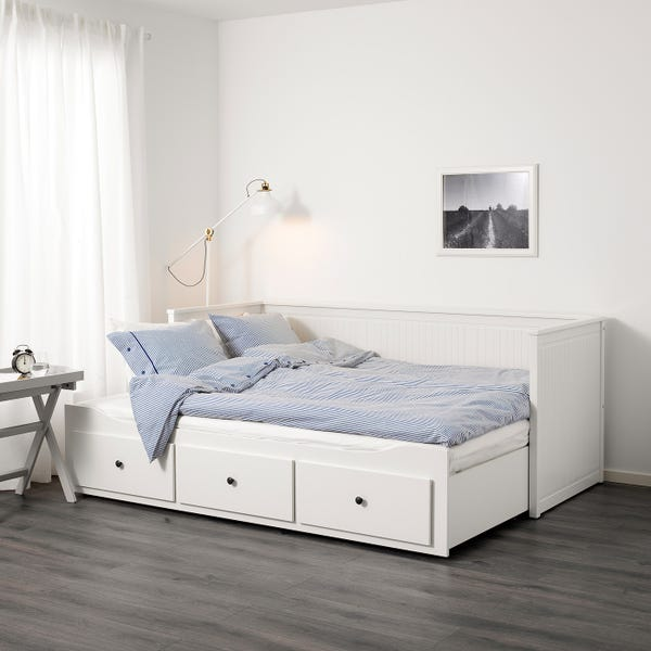 HEMNES Daybed frame with 3 drawers - white Twin