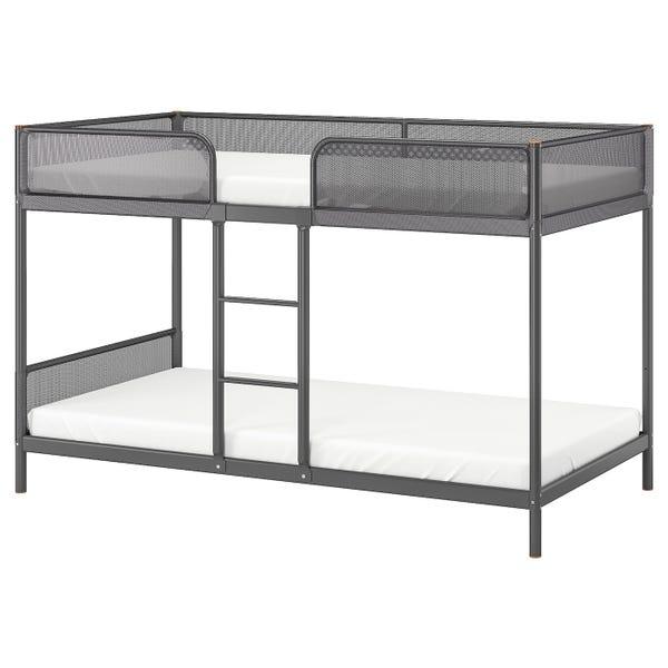 TUFFING Bunk bed frame - dark gray Twin