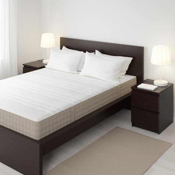 HAUGESUND Spring mattress - medium firm/dark beige Queen