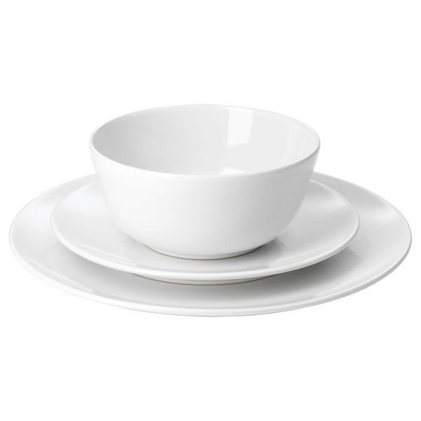 FLITIGHET 18-piece dinnerware set - white