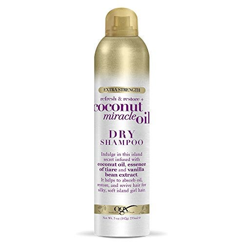 OGX Extra Strength Refresh Restore + Dry Shampoo, Coconut Miracle Oil, 5 Ounce