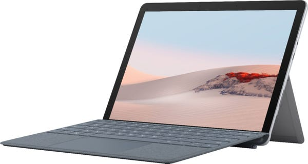 "Microsoft - Surface Go 2 - 10.5"" Touch-Screen - Intel Pentium Gold - 4GB - 64GB SSD - Platinum"