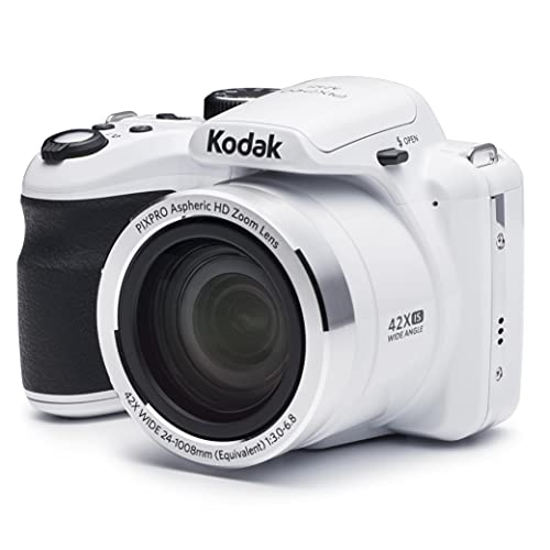 """KODAK PIXPRO Astro Zoom AZ421-WH 16MP Digital Camera with 42X Optical Zoom and 3"""" LCD Screen"""