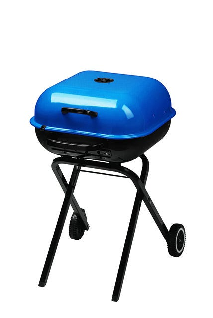 Americana Walk-A-Bout Portable Charcoal Grill in Blue