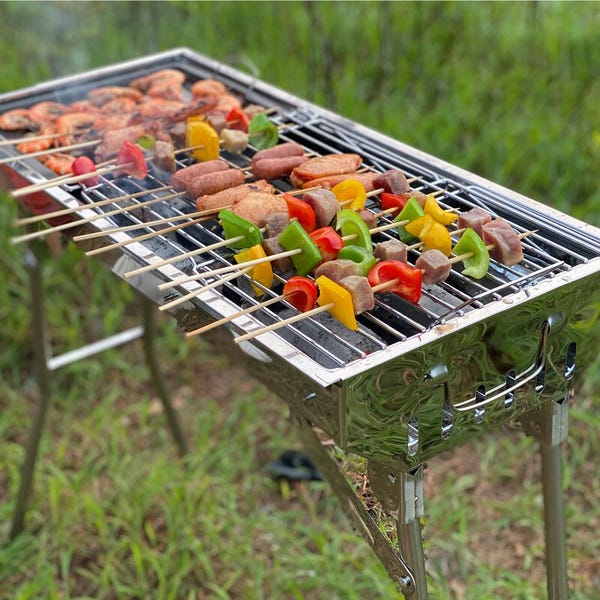 """A-Tion 28"""" Barbecue Portable Charcoal Grill (Part number: OST0512SV)"""
