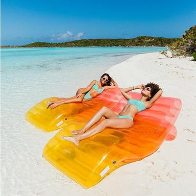 Clear Rainbow Chaise Lounger - 2 Pack
