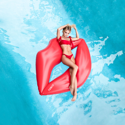 Giant Red Lips Pool Float