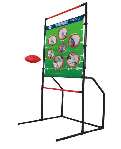 2-In-1 Football and Disc Toss Endzone Challenge For Indoor Outdoor Use