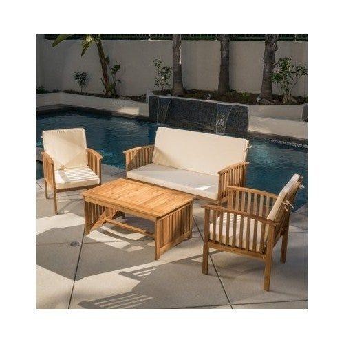 Carolina 4-piece Outdoor Acacia Sofa Set