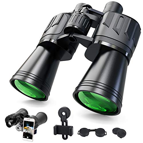 10x50 Full-Size Clear Binoculars