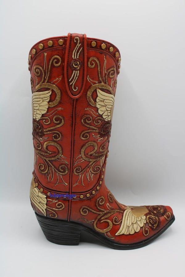 Western Cowboy Boot Vase