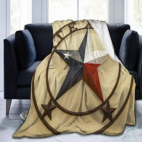Western Blanket with Texas Lone Star