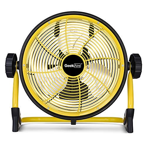 """Rechargeable, Portable, High Velocity 10"""" Floor Fan"""